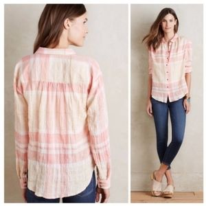 Anthropologie Holding Horses Galien plaid top.